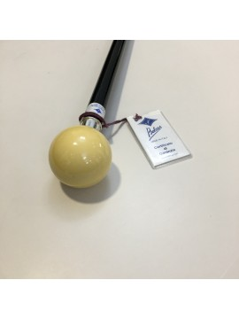 Bastone da tight e/o da passeggio con pomolo avoriolina sfera avorio Bolcas - Made in Italy
