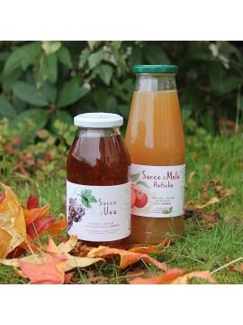 Succo di Mela e Succo d'Uva - bottiglie da 740ml e da 500ml